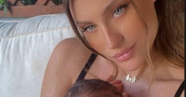 Βαλεντίνη Παπαδάκη : Η σύζυγος του Κώστα Σόμμερ φωτογραφίζεται με τον νεογέννητο γιο τους
